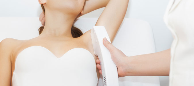 laser hair removal can be applied to the face, underarm, legs or any other area with undesired hair