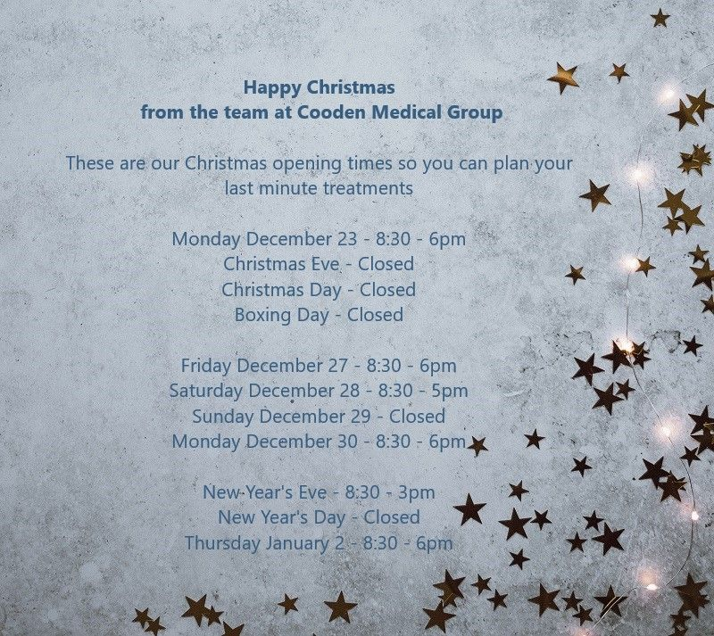 Merry Christmas from The Cooden Medical Group